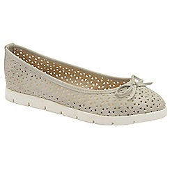 Dolcis - Grey 'Tricia' ladies slip on cut out loafers