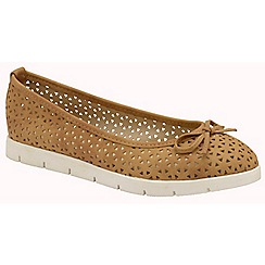 Dolcis - Tan 'Tricia' ladies slip on cut out loafers