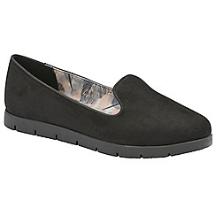 Dolcis - Black 'Tracey' ladies slip on comfort loafers