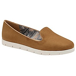 Dolcis - Tan 'Tracey' ladies slip on comfort loafers
