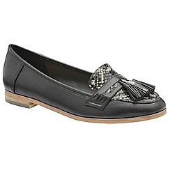 Dolcis - Black 'Tully' ladies faux suede slip on loafers