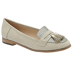 Dolcis - Grey 'Tully' ladies faux suede slip on loafers