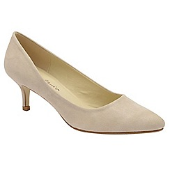 Dolcis - Nude 'Maggie' ladies slim heel faux suede pumps
