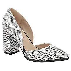 Dolcis - Black/White 'Bertina' high block heeled shoes