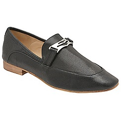 Dolcis - Black 'Jolie' ladies slip on loafers