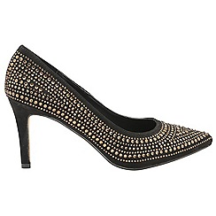 Dolcis - Black/Gold 'Madeline' ladies high heeled shoes