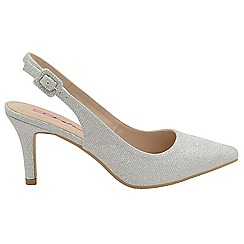 Dolcis - Silver 'Annette' stiletto heeled ladies shoes