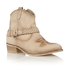 Ravel - Taupe 'Anemone' cowboy ankle boots