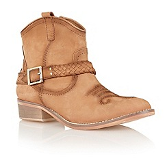 Ravel - Tan 'Anemone' cowboy ankle boots