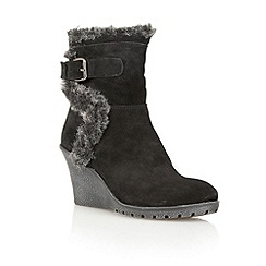 Ravel - Black 'Alabama' suede wedge ankle boots