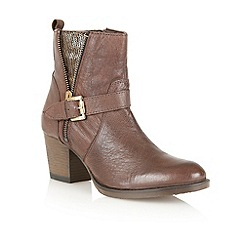 Ravel - Brown 'Delaware' leather ankle boots