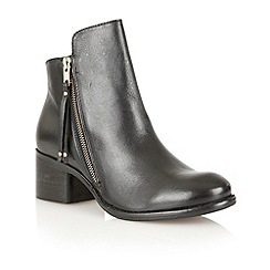 Ravel - Black 'Kansas' leather ankle boots