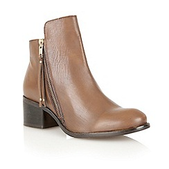 Ravel - Tan 'Kansas' leather ankle boots