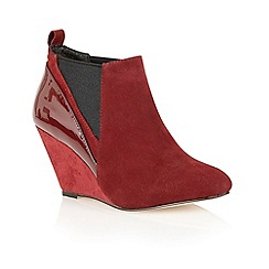 Ravel - Burgundy 'Indiana' suede ankle boots