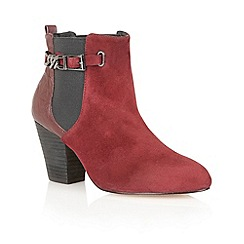 Ravel - Plum 'Kentucky' suede leather ankle boots