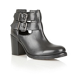 Ravel - Black 'Montana' leather ankle boots