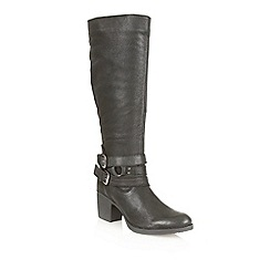 Ravel - Black 'Utah' leather knee high boots