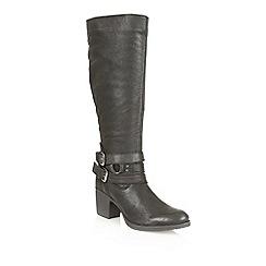 Ravel - Black 'Utah' leather knee high boots