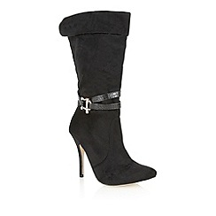 Ravel - Black 'Bloomington' mid calf boots