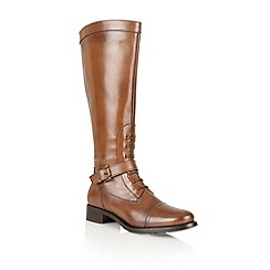 Ravel - Tan 'Palm Springs' leather knee high boots