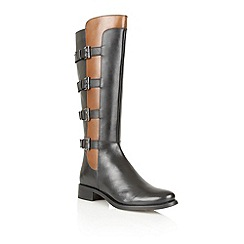Ravel - Black/tan 'Parkwood' knee high boots