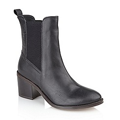 Ravel - Black 'Miami' heeled ladies ankle boots