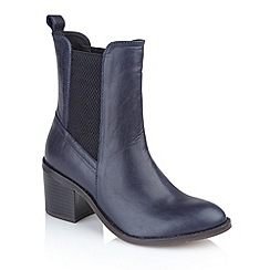 Ravel - Navy 'Miami' heeled ladies ankle boots
