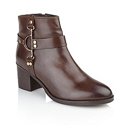 Ravel - Brown 'Bakersfield' ladies ankle boots