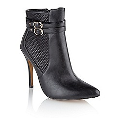 Ravel - Black 'Aurora' ladies stiletto heel ankle boots