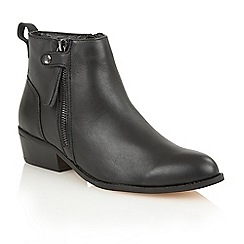 Ravel - Black 'Ravel riverside' slip-on heeled boots
