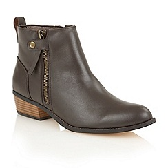 Ravel - Brown 'Ravel riverside' slip-on heeled boots