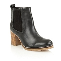 Ravel - Black 'Newark' cleated sole ladies ankle boots