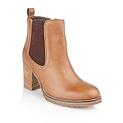 Ravel - Tan 'Newark' cleated sole ladies ankle boots