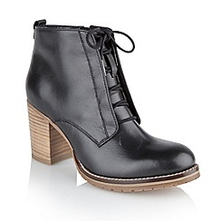Ravel - Black 'Toronto' ladies lace up ankle boots