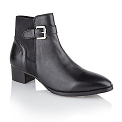 Ravel - Black 'Edmondson' ladies block heel ankle boots