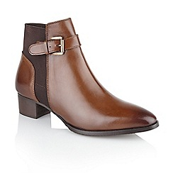 Ravel - Brown 'Edmondson' ladies block heel ankle boots