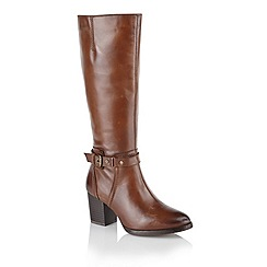 Ravel - Tan 'Hamilton' heeled knee length boots