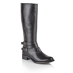 Ravel - Black 'Markham' ladies knee high riding boots