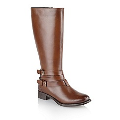 Ravel - Tan 'Markham' ladies knee high riding boots