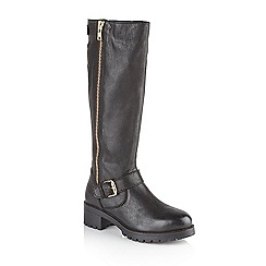 Ravel - Black 'Quebec' ladies biker style boots