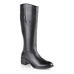 Ravel - Black 'Pickering' ladies knee high boots