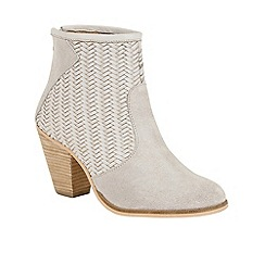 Ravel - Grey 'Queensbury' block heeled ankle boots