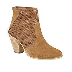 Ravel - Tan 'Queensbury' block heeled ankle boots