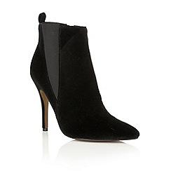 Ravel - Black velvet 'Coleman' ankle boots
