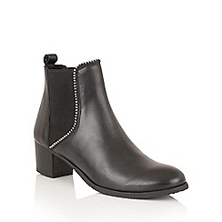 Ravel - Black Leather 'Henderson' slip on ankle boots