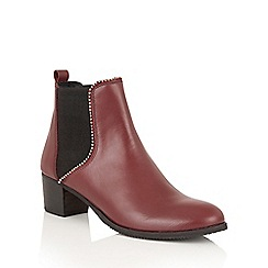 Ravel - Cherry Leather 'Henderson' ankle boots