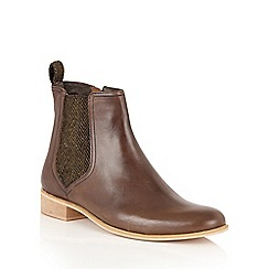 Ravel - Brown Leather 'Johnson' ankle boots