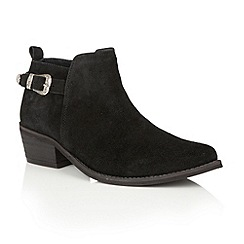 Ravel - Black suede 'Kendall' ankle boots