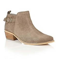 Ravel - Taupe suede 'Kendall' ankle boots