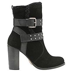 Ravel - Black 'Vernon' ladies buckle strap ankle boots